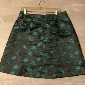 J Crew Knee Length Floral Party Skirt